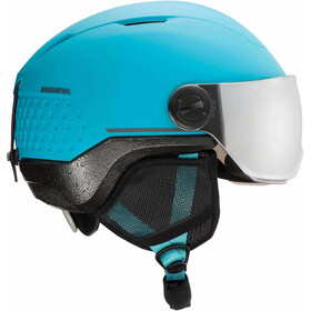 Rossignol Whoopee Impacts Casco con Visera Jóvenes, blue/black